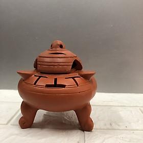 Lư xông trầm hương  (mẫu lư gốm đất nung bát tràng)