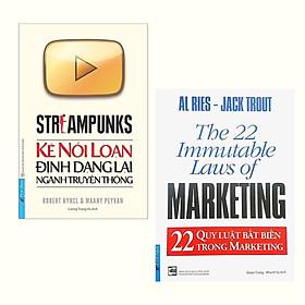 Combo Sách Marketing: Streampunks - Kẻ Nổi Loạn Định Dạng Lại Ngành Truyền Thông + 22 Quy Luật Bất Biến Trong Marketing (Tái Bản)