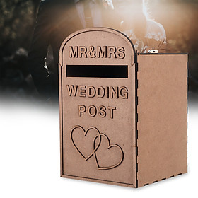 Personalised Wooden Wedding Card Post Mail Box Guest Wedding Decoration Mailbox