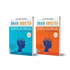 Combo 2 Bộ Sách Brain Booster - Nghe - Phản Xạ Tiếng Anh Nhờ Công Nghệ Sóng Não (Học kèm App Mcbooks Application) (Quà Tặng: Bút Animal Cực Xinh)