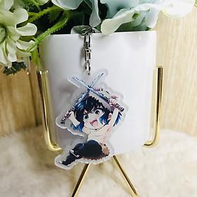 Móc khóa mica trong Kimetsu no Yaiba ver1 quà tặng xinh xắn dễ thương chibi anime tặng thẻ Vcone
