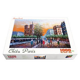 Bộ tranh xếp hình cao cấp 1000 mảnh ghép – Chiều Paris (50x79cm)