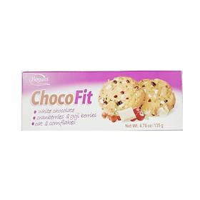 Bánh Quy ChocoFit Vị Yến Mạch Và Bắp, Socola Trắng, Goji Berries Và Nam Việt Quất 135G