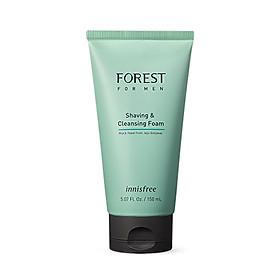 Sửa rửa mặt kiêm bọt cạo râu INNISFREE Forest For Men Shaving & Cleansing Foam 150ml