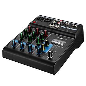 Bộ Mixer Âm Thanh Hát Live, Thu Âm, Điều Khiển Trộn Âm Thanh Bluetooth F4A Cao Cấp