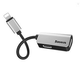 Bộ chia cổng Lightning 1 thành 2 Baseus L37 vừa sạc vừa nghe nhạc có thể đàm thoại cho iPhone 7/ 8/ X/Xs - Hàng chính Hãng