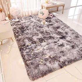 Thảm lông trải sàn size 1m2 x 1m6 - Hàng loại 1 có mặt chống trượt lông dài