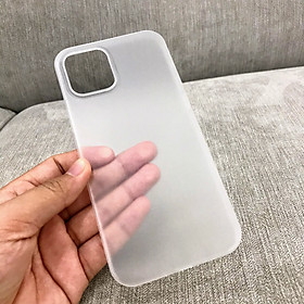 Ốp Lưng Cho iPhone 12, iPhone 12 Pro, iPhone 12 Pro Max - Trong Suốt Mờ Nhám, Chống Bụi, Chống Trày Xước, Mỏng Nhẹ