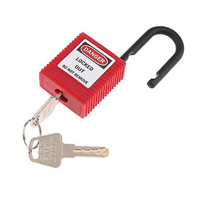 Safety Lockout Padlock Safety Lock Keyed Different Outdoors Security 25mm
