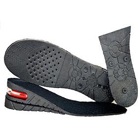 Set 2 miếng độn giày silicon đệm khí êm chân 2 lớp, lót giày cả bàn tăng chiều cao 5cm siêu tiện ích, mã DG2L - màu ĐEN