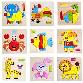Combo 20 tranh ghép hình nổi - giao ngẫu nhiên các mẫu khác nhau