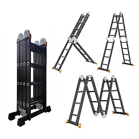 THANG NHÔM GẤP 4 ĐOẠN ĐA NĂNG  - Sử dụng 4 tư thế chữ M,A,I,U - Sơn Tĩnh Điện - Tải Trọng 300kg