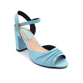 Giày Sandal Gót Vuông Quai Kiểu Sulily SGV2-I17XANH