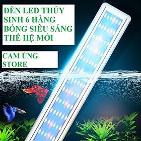 đèn led siêu sáng WRGB thế hệ mới 6  hàng bóng chuyên dụng cho bể cá cảnh thủy sinh- đèn led bể cá giá tốt nhất