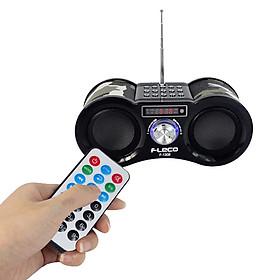 Loa nghe nhạc kiểu dáng quân đội cho điện thoại, máy tính tích hợp remote Fleco F1308-Hàng chính hãng
