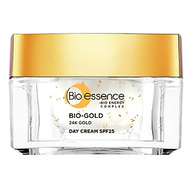 Kem Dưỡng Ngăn Ngừa Dấu Hiệu Lão Hóa Chiết Xuất Vàng Sinh Học 24K Bio-Gold SPF25 Bio-Essence (Ban Ngày)