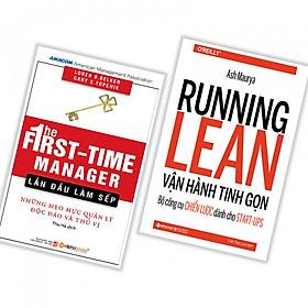 Combo sách kinh doanh thật dễ dàng : The First time manager lần đầu làm sếp - Những mẹo mực quản lý độc đáo và thú vị + Running learn vận hành tinh  gọn bộ công cụ chiến lược dành cho Start- up - Tặng kèm bookmark thiết kế