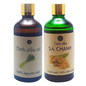 Combo 2 Chai Tinh Dầu Sả Chanh + Tinh Dầu Sả Java Ngọc Tuyết (100ml x 2)