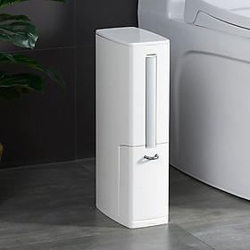 Hình ảnh Chổi cọ toilet - Chổi cọ vệ sinh kèm thùng rác - Thùng rác - Thùng rác mini - Thùng rác đa năng - Sọt rác - Chổi cọ nhà vệ sinh