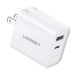 Củ sạc nhanh 18W PD/QC 4.0  tích hợp sạc nhanh PD cho iPhone 11 Pro Max/ iPhone 11 Pro / iPhone Xs Max / iPhone 8 Plus UGREEN CD212 70152 - Hàng chính hãng