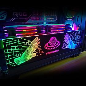 Thanh Led RGB Coolmoon Scifi bar đồng bộ Hub , Dùng độ trang trí cho case nguồn máy tính - Hàng nhập khẩu