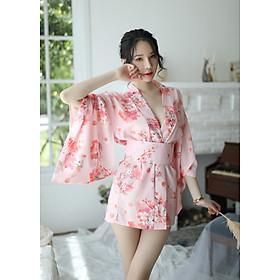Áo Ngủ Kimono Gợi Cảm Kèm Chip