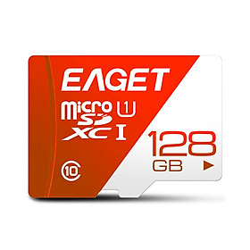 EAGET T1 TF Card 128GB TF Memory Card U1 C10 High Speed Large Capacity Memory Card for Driving Recorder Monitoring