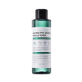 Combo 3 sản phẩm ngừa mụn Some By Mi AHA-BHA-PHA 30 Days Miracle (Toner, Serum, Cream)