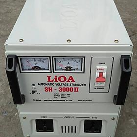 Ổn áp lioa 3kva model SH - 3000II đời mới nhất dây đồng 100%