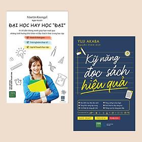 """Combo sách Kỹ Năng hay: Kỹ Năng Đọc Sách Hiệu Quả + Đại Học Hay Học """"Đại"""" (Tủ sách học tốt / Bộ 2 cuốn)"""
