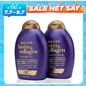 Bộ Đôi Dầu Gội Và Dầu Xả (385ml) Biotin & Collagen OGX Shampoo và Conditioner