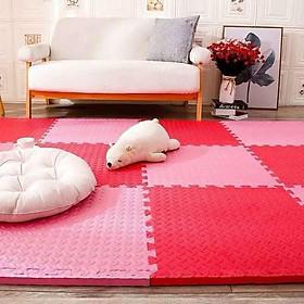 Thảm xốp trải sàn xốp trải sàn 60×60*1cm mầu hồng đỏ