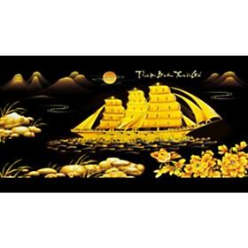 Tranh đính đá Thuận buồm xuôi gió nền đen (95X50cm )chưa đính - YN5448