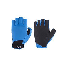 Găng tay thể thao chống nắng UPF50+ xanh da trời Zigzag GLV00403