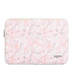 Pink Floral Pattern Laptop Bag Waterproof Tablet iPad Sleeve Case For Macbook Air Pro 11/12/13/14/15 inch