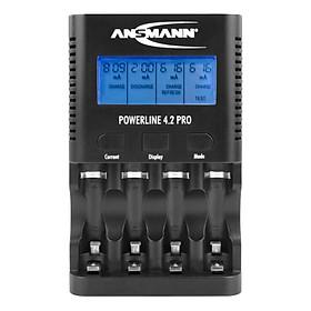 Bộ sạc, xả, đo dung lượng pin AA-AAA PowerLine 4.2 Pro ANSMANN - Hàng Nhập Khẩu