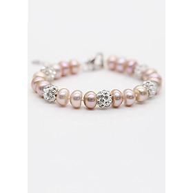 Hình đại diện sản phẩm Lắc Ngọc Trai Thiên Nhiên L8003 Ánh Tím Bảo Ngọc Jewelry