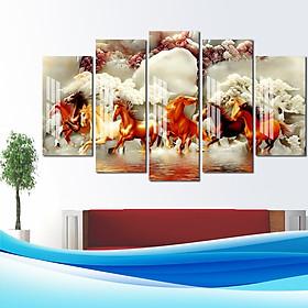 Bộ 5 tranh treo tường Mã Đáo loại 1 nhiều chất liệu hot nhất năm 2020 kích thước 30×60/80/90cm