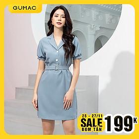 Đầm nữ GUMAC DA9241 Thiết kế cổ vest phong cách hiện đại