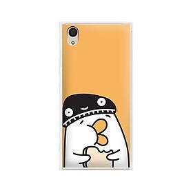 Ốp lưng dẻo cho điện thoại Sony Xperia XA1 Plus - 01156 7901 DUCK04 - Hàng Chính Hãng