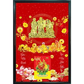 Bìa Laminate 2021 Dán Chữ Nổi (40 X 60 Cm) Kèm Khung - Phúc Lộc Thọ