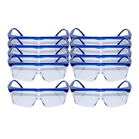 Lots 10 Lightweight Safety Glasses Eye Protector w/Clear Lens Dust-proof