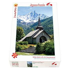Tranh xếp Hình Tia Sáng  Nhà Thờ Cổ Chamonix Tia Sáng (2035 Mảnh Ghép)