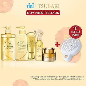 Trọn Bộ Tsubaki Premium Phục Hồi Ngăn Rụng Tóc (Gội Xả 490ml/chai + Kem Xả 180g + Mặt nạ tóc 180g + Xịt dưỡng tóc 220ml)
