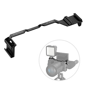 Cold Shoe Adapter Relocation Plate Aluminum Alloy Camera Vlogging Mount Bracket Compatible with Sony A6300/A6400