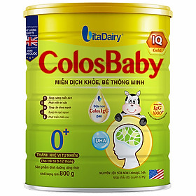 Sản Phẩm Dinh Dưỡng Công Thức ColosBaby IQ 0+ 800g - S
