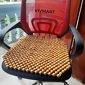 Lót ghế văn phòng hạt gỗ Pơ Mu cao cấp