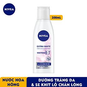 Nước Hoa Hồng NIVEA Extra White Dưỡng Trắng Da & Se Khít Lỗ Chân Lông (200ml) - 86720