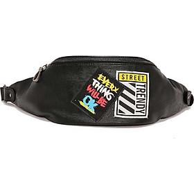 Túi đeo chéo thể thao da Street ô vuông sộc PP21 Shalla