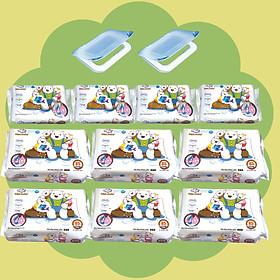( Combo 6 + 4) Khăn ướt làm sạch tinh khiết dành cho bé Oma&Baby với công thức Chlorhexidine Digluconate kháng khuẩn an toàn, dịu nhẹ trong khăn ( 6 gói 85 tờ và 4 gói 25 tờ ) - Combo 6 packages of Oma&Baby premium baby wet wipes (  85 sheets per package*6 + 25 sheets per package*4)